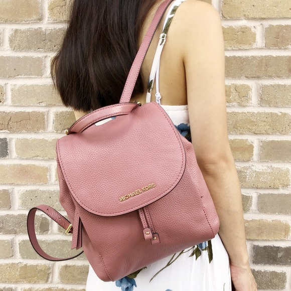 29b3d6f84226 Gaby sBags👜💕- Michael Kors Leather Backpack Pink